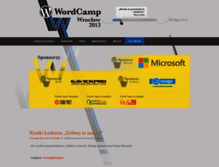 wroclaw.wordcamp.org screenshot