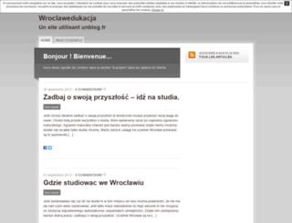 wroclawedukacja.unblog.fr screenshot