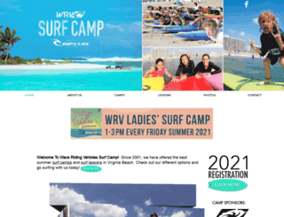 wrvsurfcamp.com screenshot