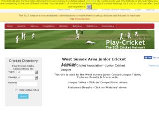 wsajcl.play-cricket.com screenshot