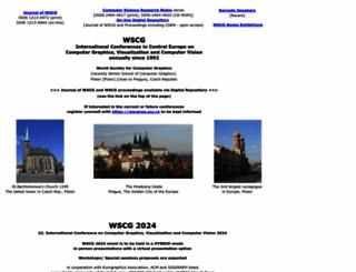 wscg.zcu.cz screenshot
