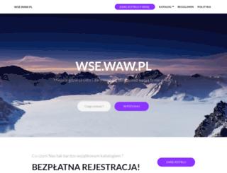 wse.waw.pl screenshot