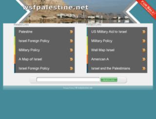 wsfpalestine.net screenshot