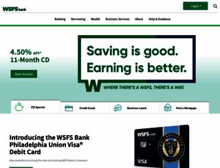wsfsbank.com screenshot
