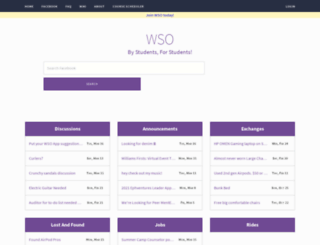 wso.williams.edu screenshot