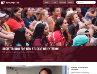 wtamu.edu screenshot