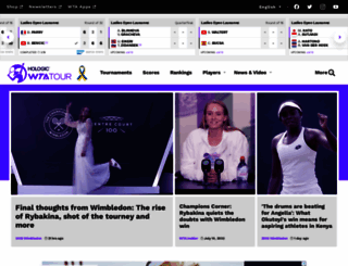wtatennis.com screenshot