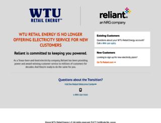 wturetailenergy.com screenshot