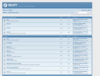 wufi-forum.com screenshot