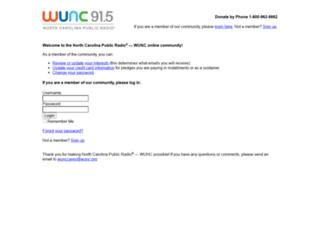 wunc.convio.net screenshot