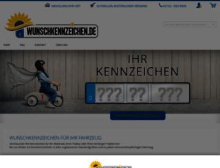 wunschkennzeichen.de screenshot