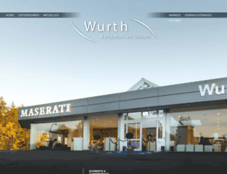 wurth-automotive.com screenshot