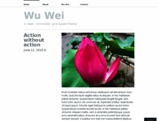 wuweidemo.wordpress.com screenshot