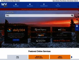 wv.gov screenshot