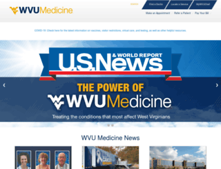 wvumedicine.com screenshot