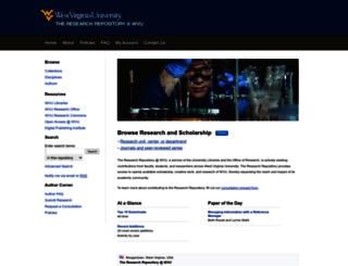 wvuscholar.wvu.edu screenshot