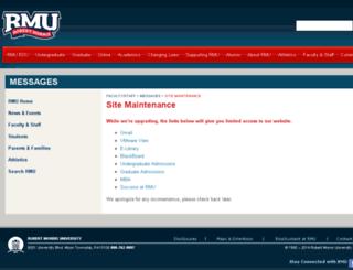 ww2-test.rmu.edu screenshot