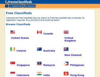 ww2.freetoclassifieds.com screenshot