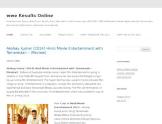 wweresultsonline.com screenshot