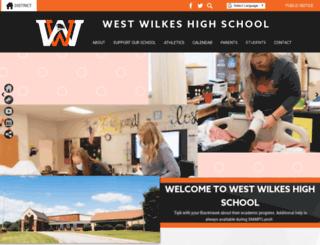 wwhs.wilkescountyschools.org screenshot
