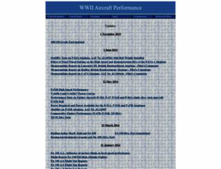 wwiiaircraftperformance.org screenshot