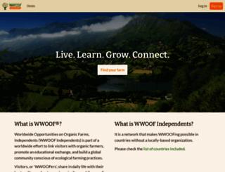 wwoofindependents.org screenshot