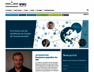 wwu.de screenshot