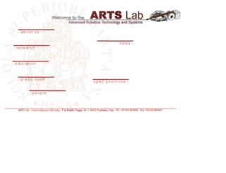 www-arts.sssup.it screenshot