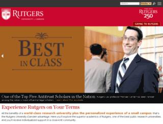 www-camden.rutgers.edu screenshot