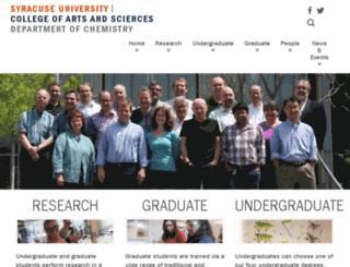 www-che.syr.edu screenshot