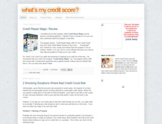www-checkcreditscore.blogspot.com screenshot