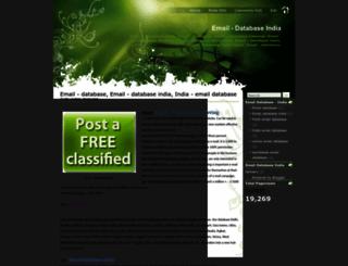 www-emaildatabaseindia.blogspot.com screenshot