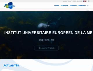 www-iuem.univ-brest.fr screenshot