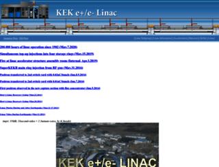 www-linac.kek.jp screenshot