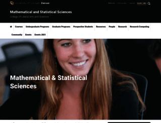 www-math.ucdenver.edu screenshot