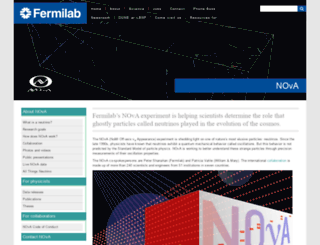 www-nova.fnal.gov screenshot