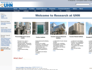 www-old.uhnresearch.ca screenshot