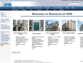 www-old.uhnresearch.ca screenshot