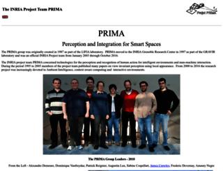 www-prima.inrialpes.fr screenshot