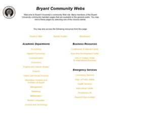 www-proxy.bryant.edu screenshot
