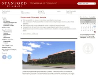 www-psych.stanford.edu screenshot