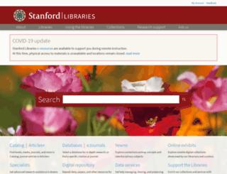 www-sul.stanford.edu screenshot