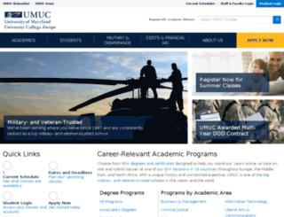 www-test.europe.umuc.edu screenshot