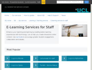 www-webct.ucl.ac.uk screenshot