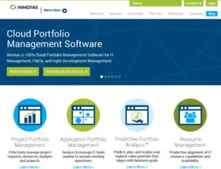 www-wp-test.innotas.com screenshot