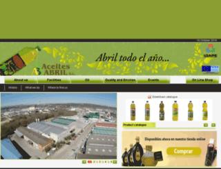 www1.aceitesabril.com screenshot