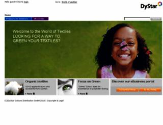 www1.dystar.com screenshot