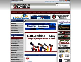 www1.londrina.pr.gov.br screenshot