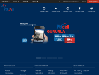 www1.ptt.gov.tr screenshot