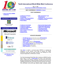 www10.org screenshot